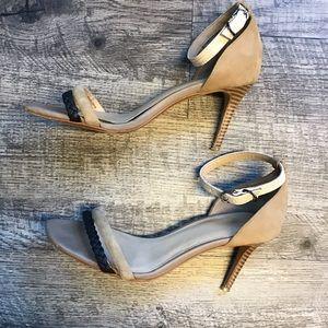 Joe's Jeans suede ankle strap sandal heels 7
